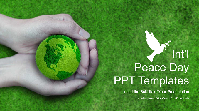International Peace Day PowerPoint Templates Feature Image